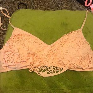 Light pink bikini top